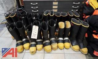 (11) Pair Of Fire Protective Boots/Black Diamond/Thorogood