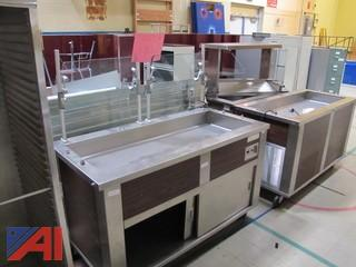 (4) Refrigerated Cold Tables and (1) Tray Rack