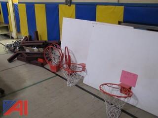 Basketball Back Board and Lift Pulleys