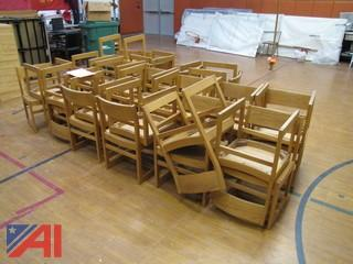 (32) Wooden Chairs