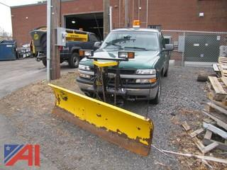2000 Chevrolet 1500 Utility Truck with Plow