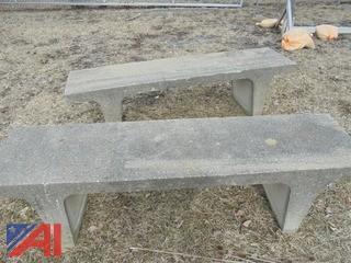 (2) Concrete Benches