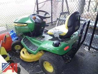 John Deere X300 Riding Lawn Mower