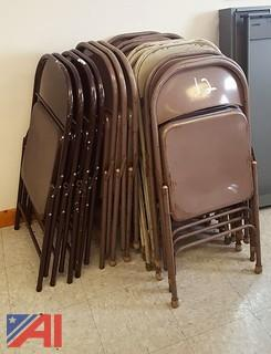 (18) Metal Folding Chairs