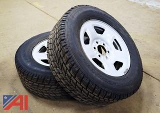 Pair Of 265/65R17 Snow Tires/Ford Rim