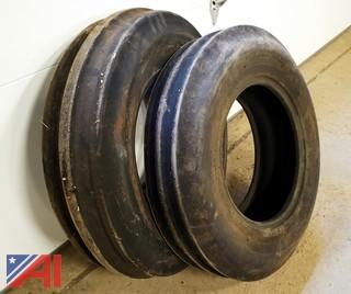 (2) 6 Ply 7.50-16 Tractor Tires
