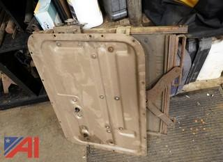 Vintage Oshkosh Side Door Window Panel