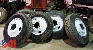 (5) Goodyear 11R24.5 Truck Tires With Rims