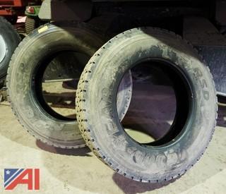 (2) Goodyear 11R24.5 Truck Tires