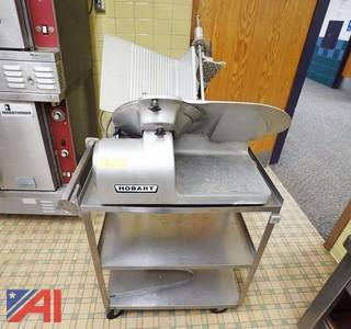 Hobart #1612 Commercial Meat Slicer & Bus Cart