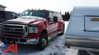 2005 Ford F350 Pickup with Cap