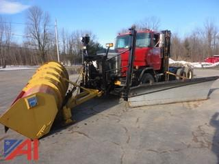 1989 Volvo/GMC Autocar/ACL Cab & Chassis with Plows