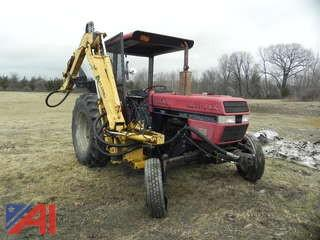 1991 Case International 595 Tractor with Alamo Attachment