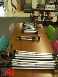 Large Lot of Camera Tripods