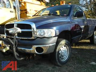 2004 Dodge Ram 2500 Laramie Pickup with Plow