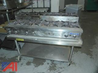 US Range 8 Burner Portable Gas Range