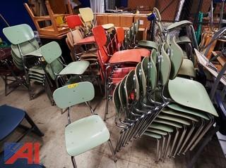(50) Assorted Color Student Chairs