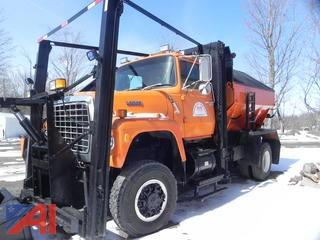 1987 Ford L9000 Truck with, Plow, Wing & Sander
