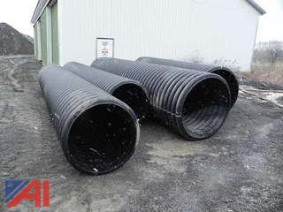 "(2) 20' Plastic Culverts, 48"" w/ bands (Never Used)"