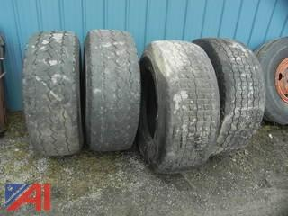 (4) 425/65R22.5 Floatation Tires