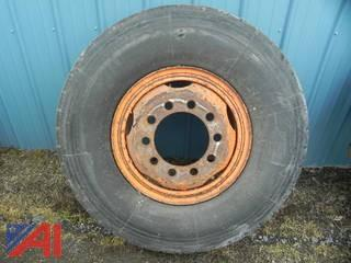 (1) 12.00R20 Tire on Oshkosh Rim