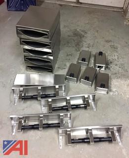 Lot of Stainless Steel Dispensers