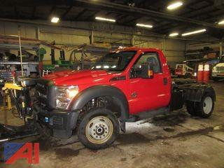 2011 Ford F550 Cab and Chassis with Plow