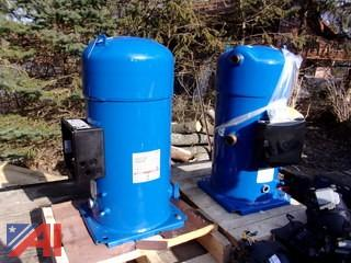(2) Commercial HVAC Air Compressors