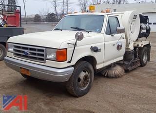1991 Ford F350 Custom Sweeper Truck