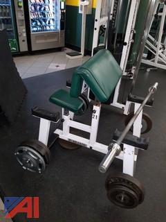 Atlantis Preacher Curl Bench/Bar Machine (#21)