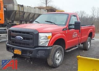 2011 Ford F350 Super Duty Pickup Truck with Plow