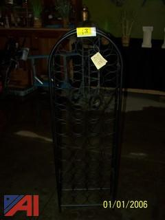 Black Decorative Wine Rack