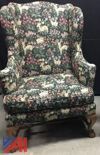 (2) Baker Wing Back Chairs