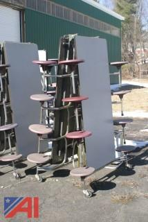 (8-10) Assorted Cafeteria Tables