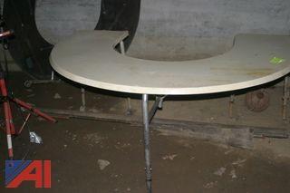 (2) U Shaped Folding Tables with Wheels