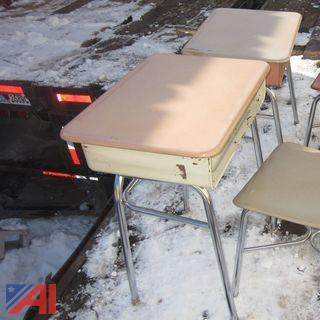 Lot of Student Desks