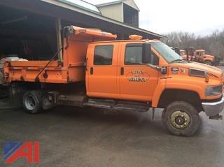 2005 GMC C5500 Crew Cab Dump Truck