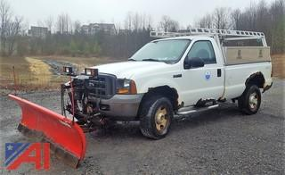 2005 Ford F350 SD Pickup Truck with Plow