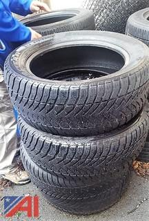 (3) Set of Four Tires, Size 245/55R18