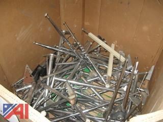 (1) Bin of Assorted Table Legs