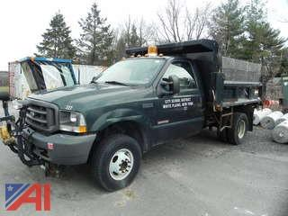 2004 Ford F350 SD Pickup with Plow