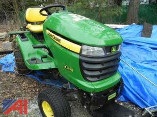 John Deere X304 Lawn Mower with Plow Blade