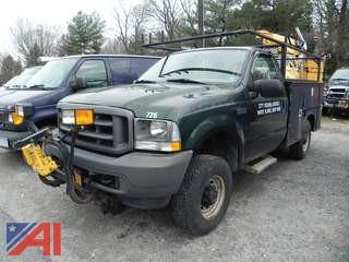 2003 Ford F250 SD Pickup with Utility Body and Plow