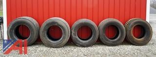 (5) Used 22.5 Truck Tires