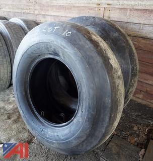 (2) New 13.00-24 Smooth Roller Tires