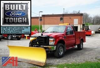 2008 Ford F350 XL SD Utility Service Truck with Plow