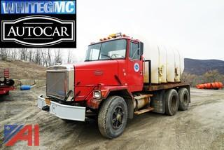 1990 White/GMC Autocar Salt Brine Water Truck