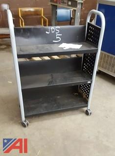 Safco 3-Tier Library Cart