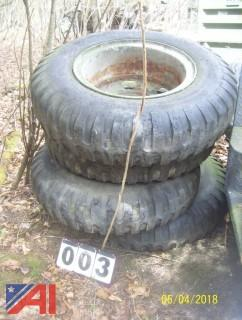 (4) 9.00 -20 Tires