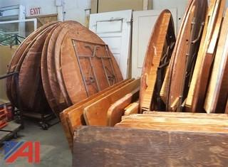 Approximately (29) Plywood Round Folding Tables